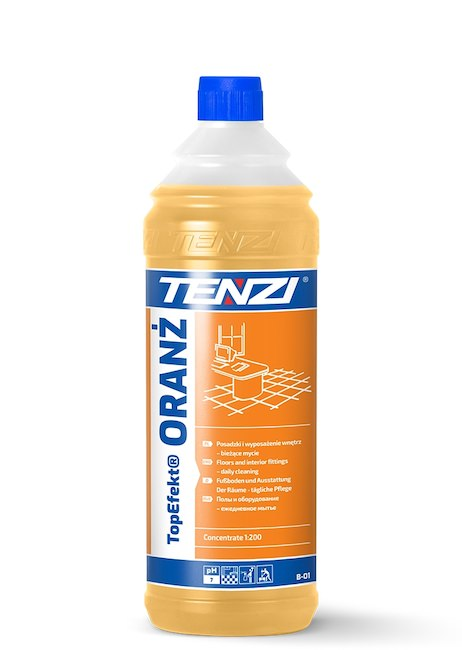 TopEfekt Oranż Daily cleaning of the floors and interior fittings