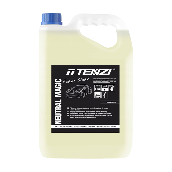 Highly concentrated neutral foam for washing cars